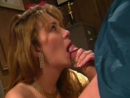 Big titted Rayveness sucking a massive wang with lust from Free Blowjob Passport
