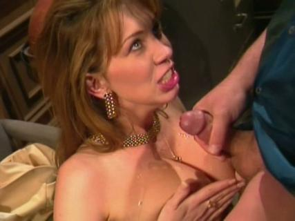 Rayveness gives blow job and gets sexy tits cumshoted from Free Blowjob Passport