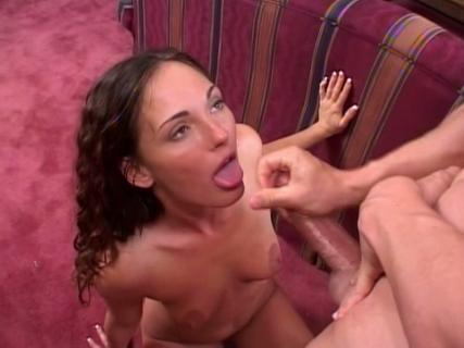 Venus gives blowjob and swallows fresh sperm from Free Blowjob Passport